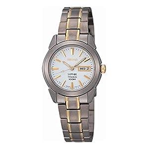 Seiko SXA115P1 – Reloj analógico de mujer de cuarzo con correa de