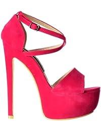 Damas Strappy Cruzado Onlineshoe Femenil Partido Pastel Tacón Plataforma  Tacón Zapatos Bombas - Menta Gamuza c4aa5a8fefe0