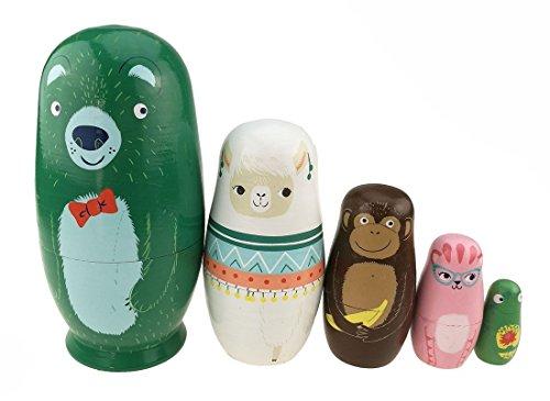 a glänzend russischen Puppe Bär Alpaka Monkey handgefertigt Holz Spielzeug Entwicklung von Fähigkeiten Geschenk für Jungen/Mädchen Weihnachten Geschenk Idee (Baby-ostern-korb-ideen)