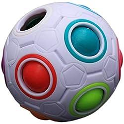 ZinESaya Juguete mágico Colorido del Bloque del Juguete mágico del fútbol de la Bola del Arco Iris del niño único