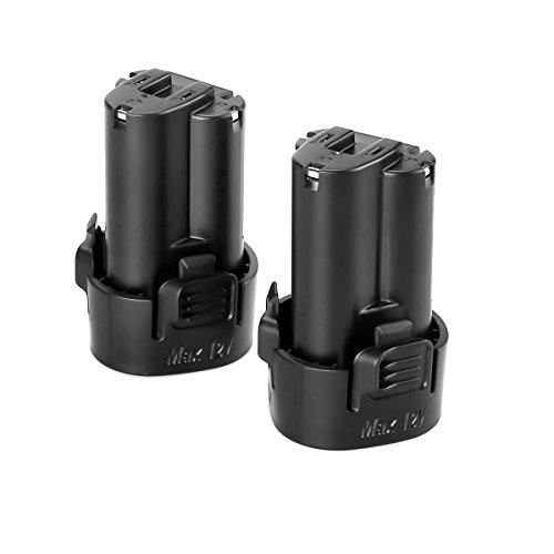 Energup 2X prima de 10,8V/2,0Ah Li-Ion de la batería de herramientas para Makita BL1013, 194550-6, 194551-4, DF030DW, DF030D, DF030DWX, DF330D, TD090D, TD090DWE, TD090DWE, TD090DWX, TD090DWXW
