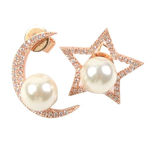 lanfan ambientali brass orecchini di diamanti 0.25m18k piu 'nuotare oro (Anello Di Diamante Di Modo Cerchio)