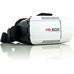 Saxonia VR Box Realidad Virtual Gafas 3D para Apple iPhone 4 4S 5 5S 5C 6 6S Plus | Universal Visor Virtual Reality Video Juegos simulación