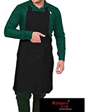 Kodenipr Club® Mens and Womens Chef Cooking Kitchen Apron (Black)