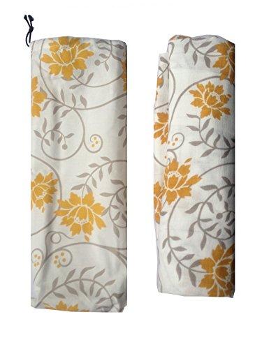 KOOYOL Couverture d'allaitement Coton Nursing Cover + Sac de Rangement Jaune