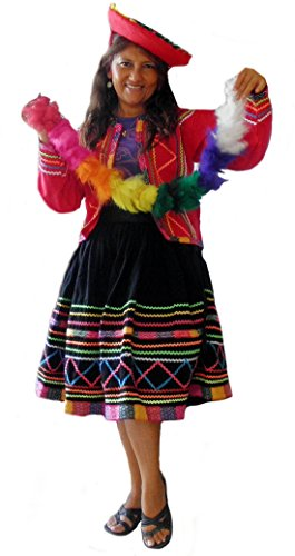 Alpacaandmore Original Set peruanische Tracht Tanzkostuem (42) (Peruanische Tracht)