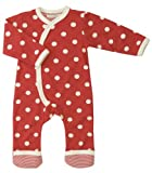 Organics for Kids Spotty Kimono Romper Suit Red 0-5 months