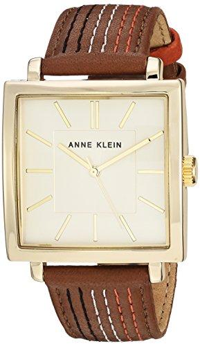 Anne Klein Women's AK-2740CHBN Brown Leather Quartz Fashion Watch