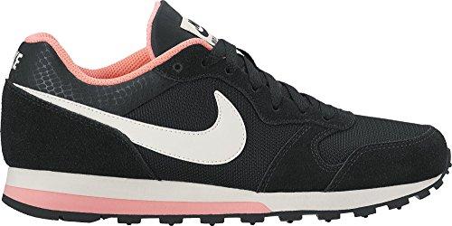 Nike  Wmns Md Runner 2, Chaussures de sport femme Noir (Black / Sail / Lava Glow)