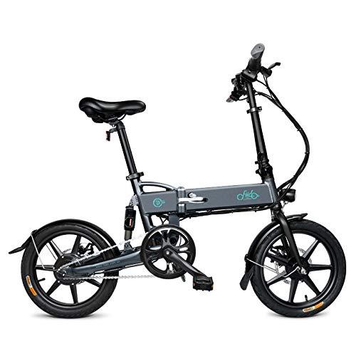 Teamyy Vèlo Homme Electrique Pliant De Ville E Velo Biking Electrique (Gris,16 Pouces, Batterie Aluminium 36V 8Ah)