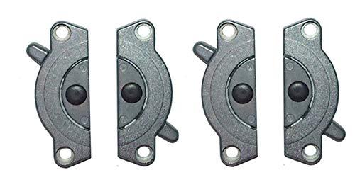 Gedotec Möbelverbinder Metall Tischplatten-Verbinder SET zum Anschrauben TACO K4 | Arbeitsplatten-Verbinder Stahl verzinkt | Spannverschluss zum Schrauben | 2 Set - Tischverbinder zweiteilig für Möbel