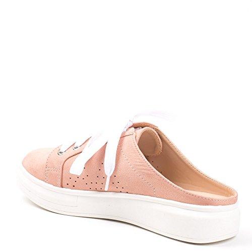 Halbschuhe Schuhe NEU Damen Slipper 5532 Rosa Silber 38