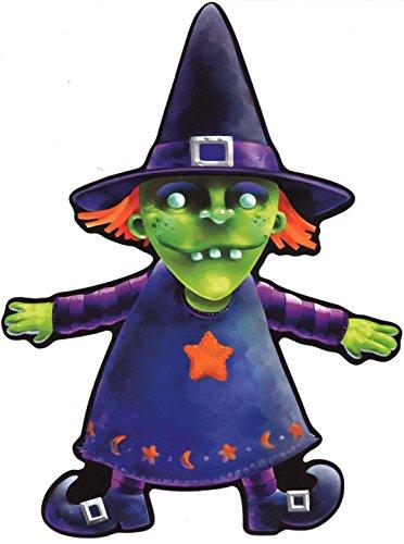 Selbstklebend Wandtattoo Fete Deco Halloween MacBook Auto SORCIERE Grüne Kinder