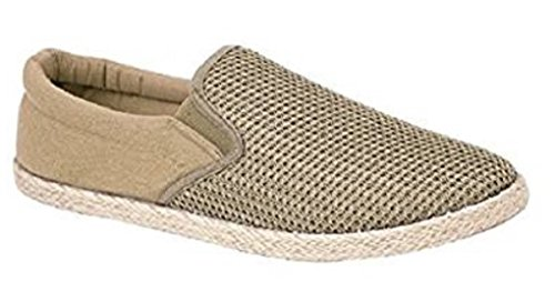 Mens Slip On Canvas Shoes Summer Pumps Casual Espadrilles Lightweight Plimsolls (12...