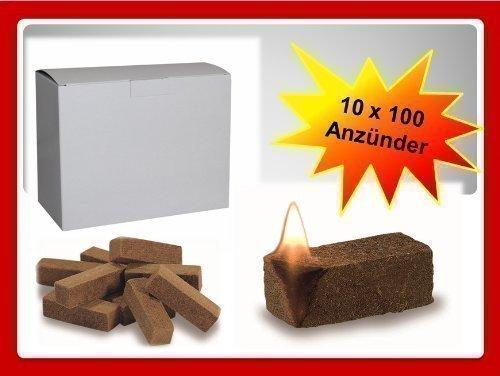 1000 St Bio Anznder Grillanznder Kaminanznder Ofenanznder Holzfaser Und Wachs