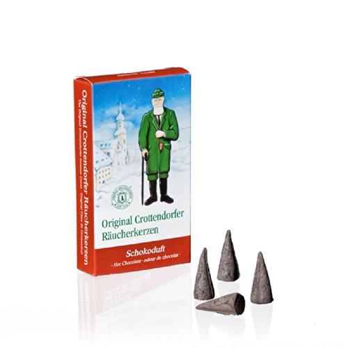 Crottendorfer Räucherkerzen 1009 Lot 24 anti-fumo coni di incenso profumo di cioccolato Taglia M
