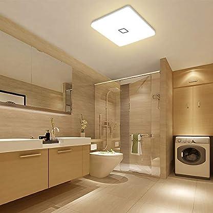 Öuesen Plafoniera led lampada da soffitto led 24w plafoniera led moderna per Soggiorno Cucina Camera Bagno Hotel,Ø 32cm