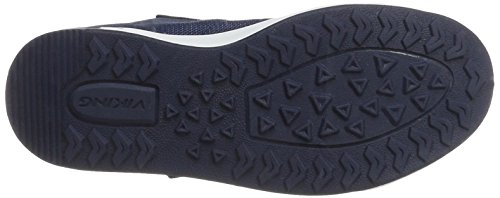 Viking Frogner Mid, Chaussures Multisport Outdoor mixte enfant Blau (Navy/White)