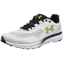 Under Armour UA Charged Spark, Zapatillas de Running para Hombre, Blanco (White/Black/Metallic Gold), 47.5 EU
