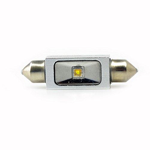 Lumiplux Feston C5W 42mm 12V 24V Blanc LED Ampoule de Voiture 1X5W Haute Puissance Puce (Pack de 2)