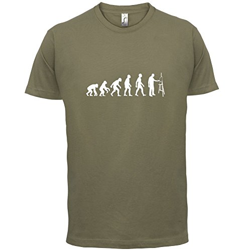 Evolution of Man - Künstler - Herren T-Shirt - 13 Farben Khaki