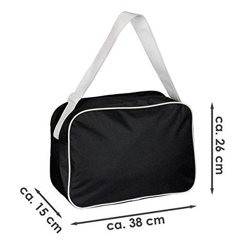 Retro-Shoulder-Bag-Fashionable-I-Love-Gnome-Throw-Black