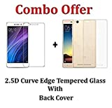 iZAP(COMBO OFFER) Flexible Ultra Slim Premium Silicone Transparent Soft Back Cover + Tempered Glass Screen Protector for Xiaomi Redmi 4A