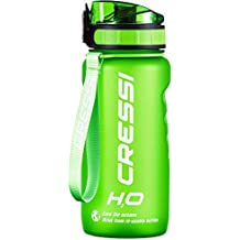 Cressi Water Bottle H20 Frosted Borraccia Sportiva, Verde, 600 ml