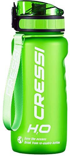 Cressi Water Bottle H20 Frosted, Borraccia Sportiva Unisex, Verde, 600 ml