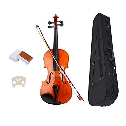 H HILABEE Violino Acustico In Legno Di Tiglio Con Borsa Da Trasporto Strumento Musicale Portatile Lucido Professionale - come descritto, 1-4
