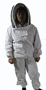 BeeKeeping Bee Suit with Veil - Adult Small- Large child