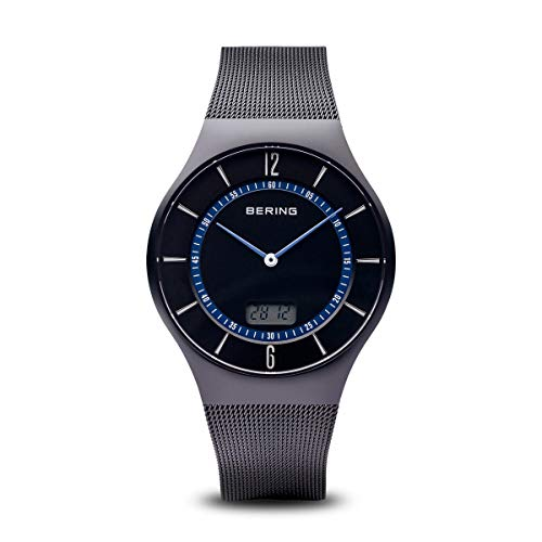 BERING Herren Analog Quarz Uhr mit Edelstahl Armband 51640-228