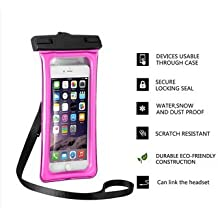 Eco-friendly high quality Soft TPU case swimming mobile phone waterproof bag (Rose Red)