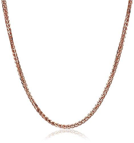 14 Karat 585 Gold Diamantschliff Spiga Weizen Rosegold Kette - Breite 1.50 mm (50)