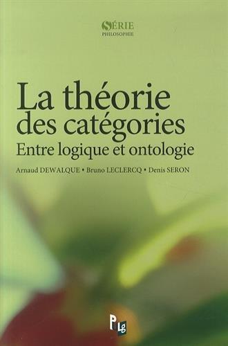 La Theorie des Categories. Entre Logique et Ontologie