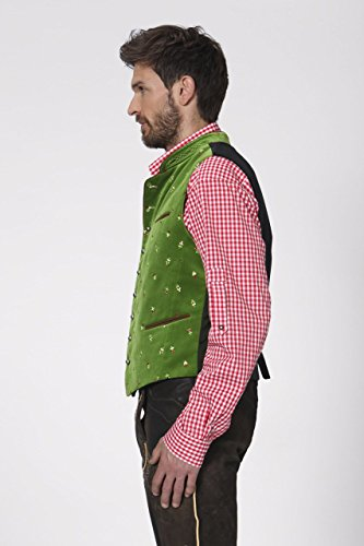 Stockerpoint - Herren Trachten Weste in verschiedenen Farbtönen, Calzado, Größe:56, Farbe:Hellgrün - 3