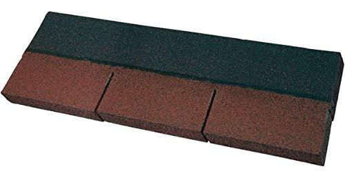 Easy Shingle Bitumen-Rechteckschindel - rot 2 m² - Eindeckung von geneigten Dächern wie z. B. bei Gartenlauben, Pavillons, Carports, Ferienhäusern und Wohnhäusern.