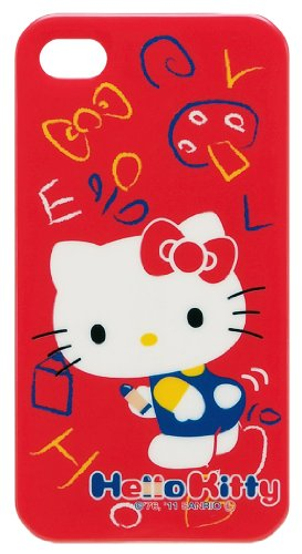 Sanrio Character Soft TPU Jacket for iPhone 4 (Hello Kitty/A) (Handy-fälle-hello Kitty)