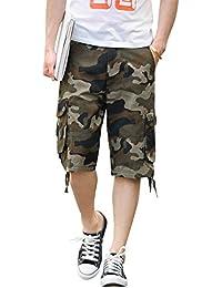 Kasen Hombres Pantalones Cortos Camo Suelto Leisure Trabajando Cargo Shorts