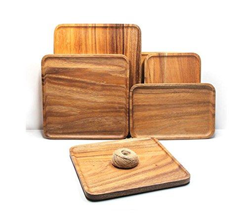 ZXMXY Küchengeräte Rechteckige Western Food Obst Pizza Holz Gericht Holzplatte, keine Farbe Holz Tray Brotplatte Akazie Holz Besteck Holz Brot Board Halter für die Küche (Größe : - Brot Halter Holz