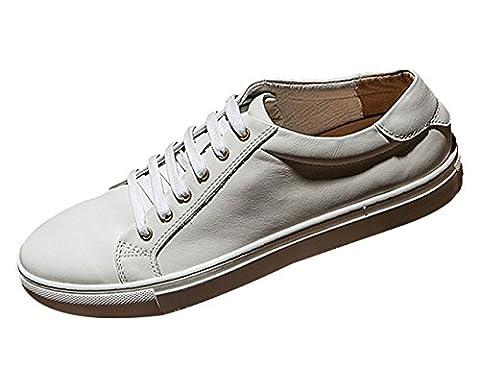 Insun , Chaussures de ville à lacets pour homme - blanc - blanc, 40