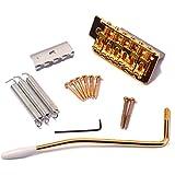 ROSENICE Chevalet trémolo Système de verrouillage unique Professional Electric Guitar vibrato pour guitare Strat ST