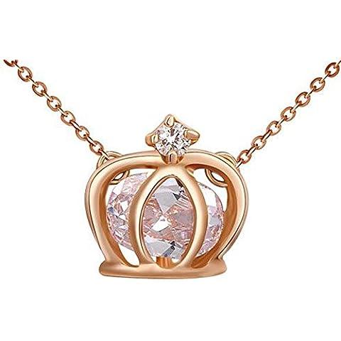SaySure–14K chapado en oro Cristales Stellux Rose Golden doble piedra