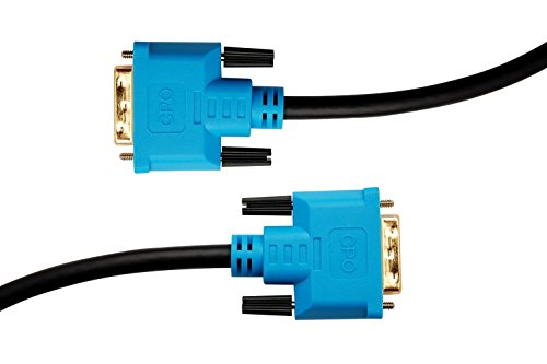 CPO 2M DVI Cable DVI D 24 1 Pin full double Link Monitor Lead Black and Blue DVI Cables