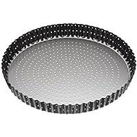 Master Class Tarte-/Quicheform mit Antihaftbeschichtung und Hebeboden, geriffelt, für knusprige Böden, Stahl, schwarz, 28 cm (11 inches)