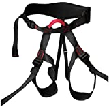 Fenteer Safety Half Body Seat Harness Sitting Bust Belt Rock Climbing Tree Arborist Abseiling Rigging Fall Protection Equipment