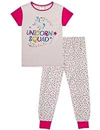 Girls Super Cool Unicorn Squad Long Pyjama Set 9 To 14 Years