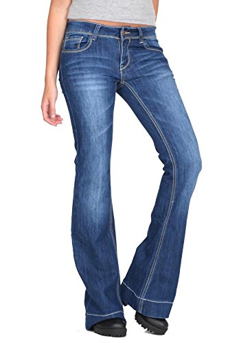 Cindy H Low Rise Bootcut Jeans - Blue