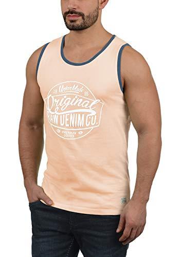 Blend Walex Herren Tank Top Mit Print Und Rundhalsausschnitt Aus 100% Baumwolle, Größe:S, Farbe:Cameo Rose (73835) - Hawaii-blumen-muster-shirt