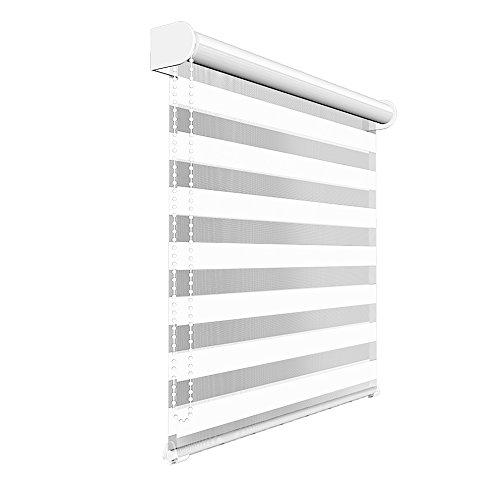 VICTORIA M - Estor doble enrollable (para ventanas y puertas), tamaño y color a elegir
